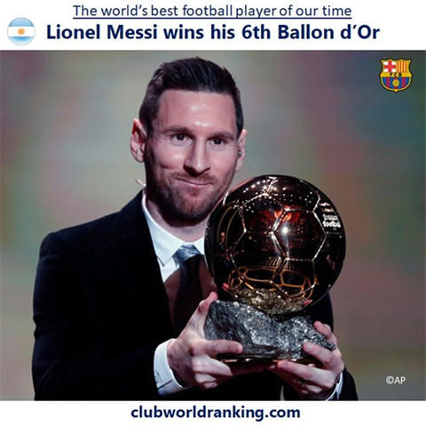 No player has ever won 6 Ballons d